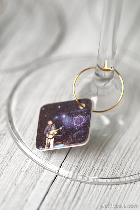 Instagram Memories Wine Charms � Made from shrink plastic � Great for holiday parties!